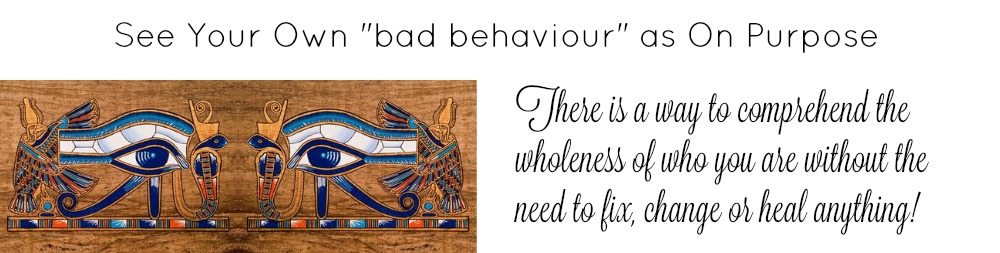 See your own bad behaviour as on purpose - image